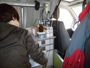 Analytik im Probenahme-Fahrzeug